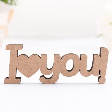 3D-Schriftzug I love you