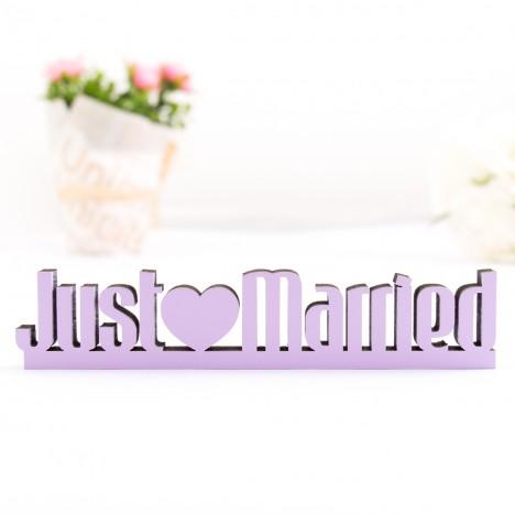 3D-Schriftzug Just Married