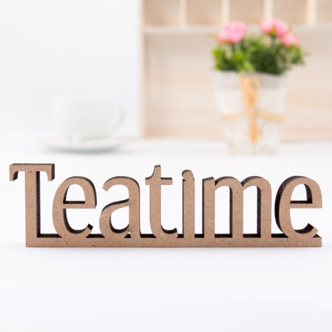 Dekoschriftzug Teatime