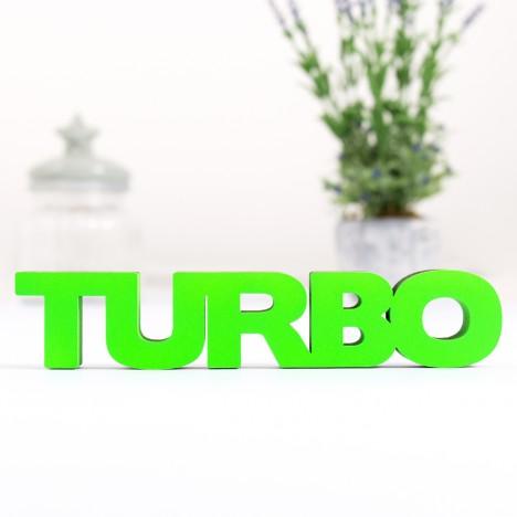 3D-Schriftzug Turbo