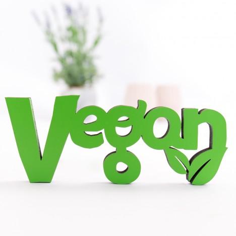 3D-Schriftzug Vegan
