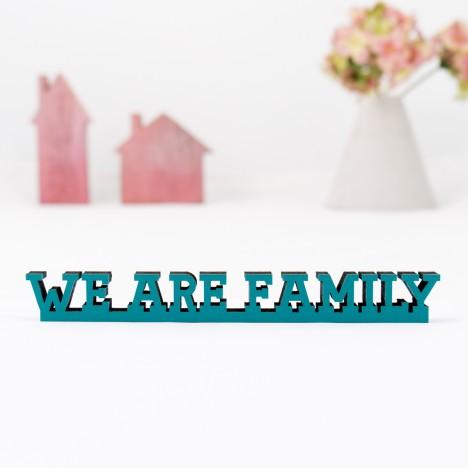 3D-Schriftzug We are family