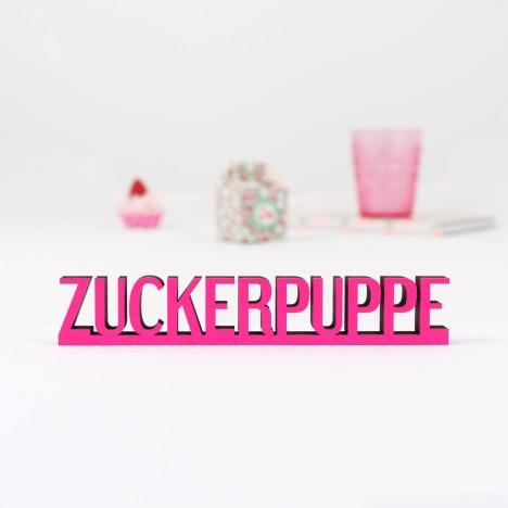 """Dekoschriftzug """"Zuckerpuppe"""""""