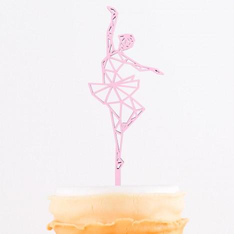 Cake Topper Origami Ballerina