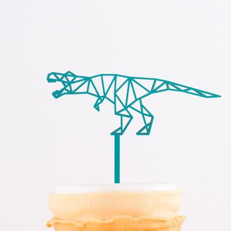 Cake Topper Origami T-Rex