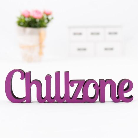 Dekoschriftzug Chillzone