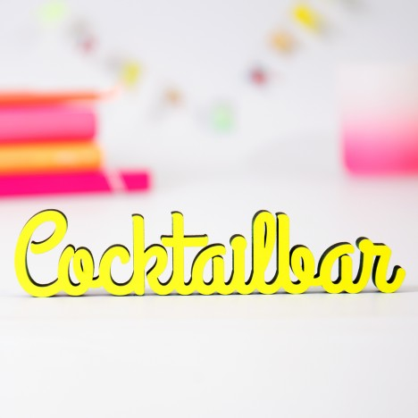 """Dekoschriftzug """"Cocktailbar"""""""