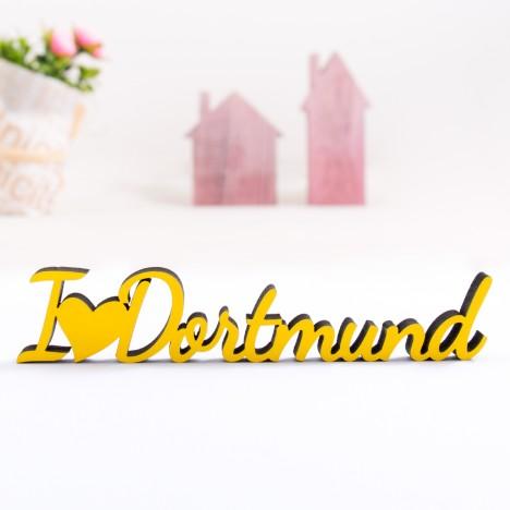 Dekoschriftzug I love Dortmund