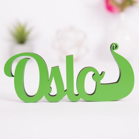 Dekoschriftzug Oslo