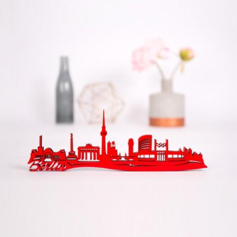 3D-Skyline Berlin aus Holz