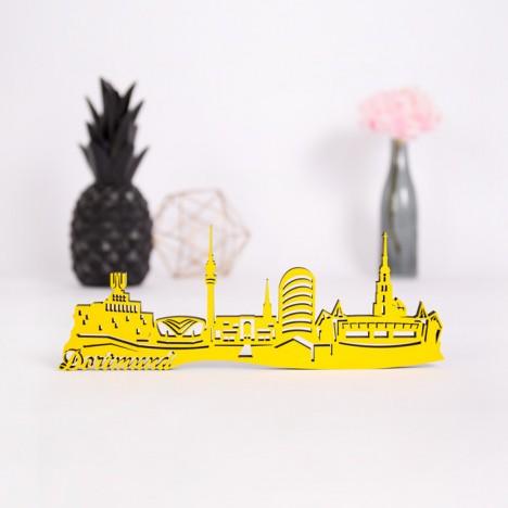 3D-Skyline Dortmund aus Holz