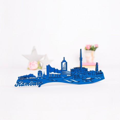 3D-Skyline Hamburg aus Holz