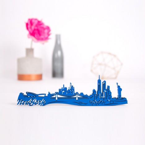 3D-Skyline New York aus Holz