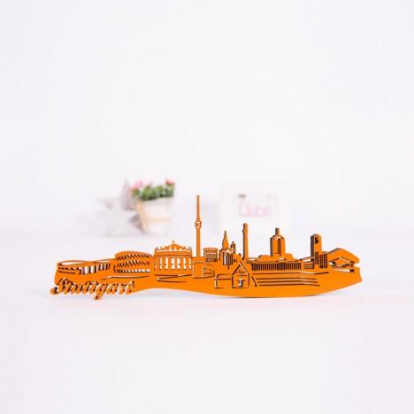 3D-Skyline Stuttgart aus Holz