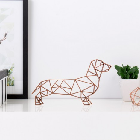 ORIGAMI 3D-Motiv Dackel