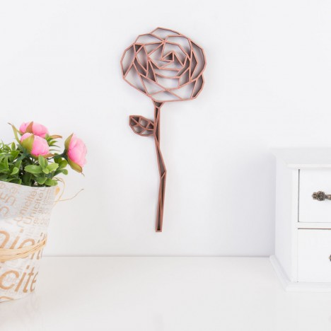 Origami Rose aus Holz