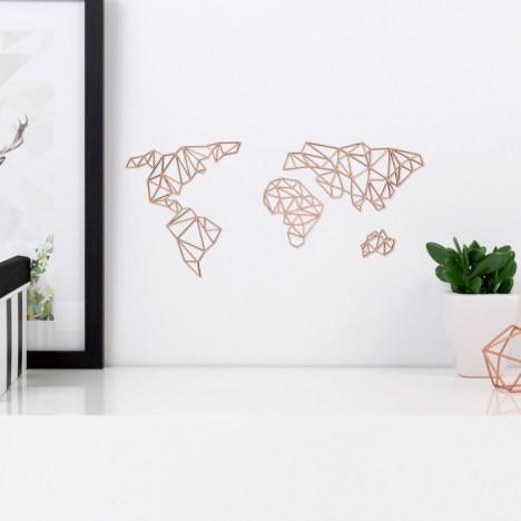 ORIGAMI 3D-Motiv Weltkarte (4-teilig)