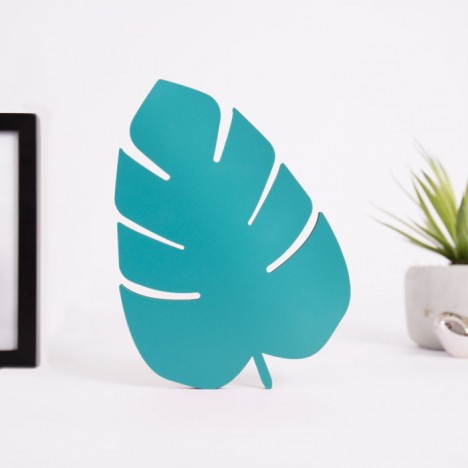 Philodendron Blatt aus Holz