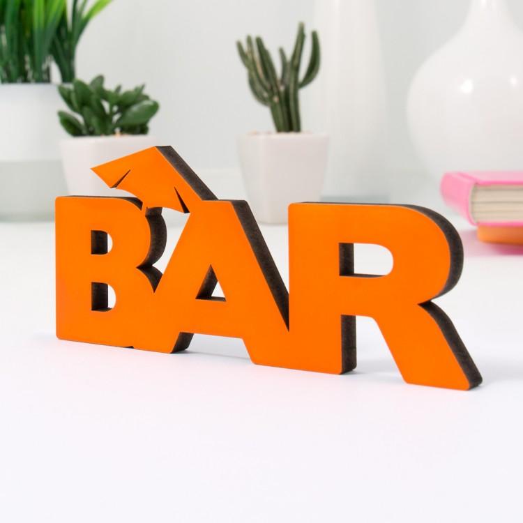 3d schriftzug bar. Black Bedroom Furniture Sets. Home Design Ideas