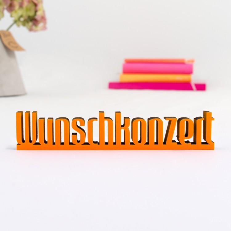 3d schriftzug wunschkonzert. Black Bedroom Furniture Sets. Home Design Ideas