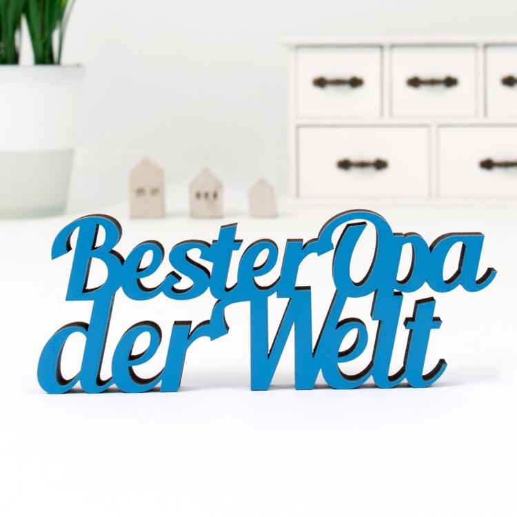 dekoschriftzug bester opa der welt. Black Bedroom Furniture Sets. Home Design Ideas
