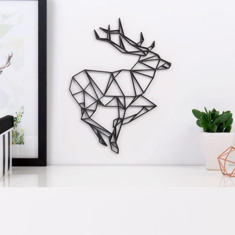 Origami 3d motiv hirsch for Hirsch deko wand