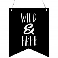 Wimpel Wild and free