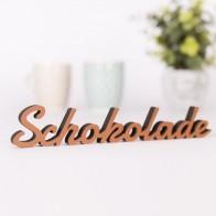 Dekoschriftzug Schokolade
