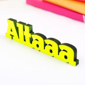 Dekoschriftzug Altaaa