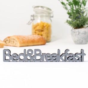 3D-Schriftzug Bed & Breakfast