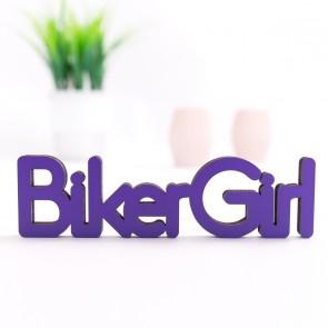 3D-Schriftzug Biker Girl