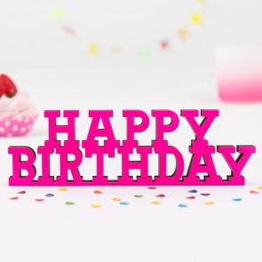 3D-Schriftzug Happy Birthday