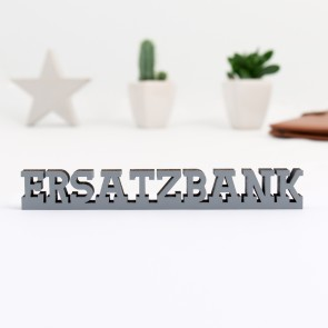 3D-Schriftzug Ersatzbank