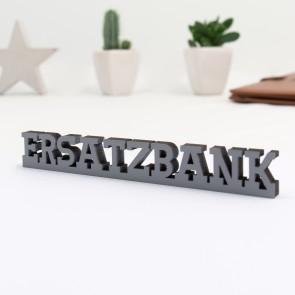 Dekoschriftzug Ersatzbank