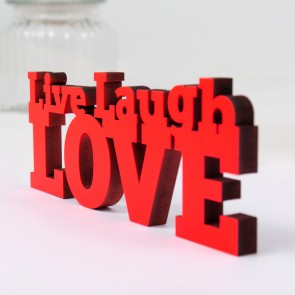 Dekoschriftzug Live Laugh Love