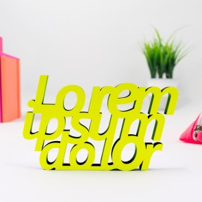 3D-Schriftzug Lorem ipsum dolor