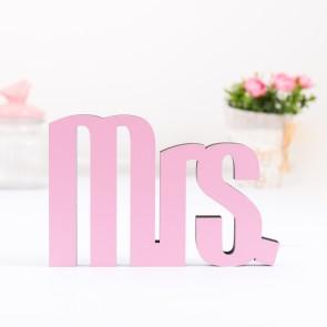 3D-Schriftzug Mrs.