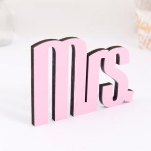 Dekoschriftzug Mrs.