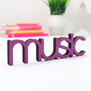 Dekoschriftzug Music