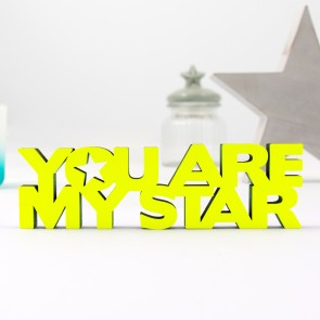 3D-Schriftzug You are my star