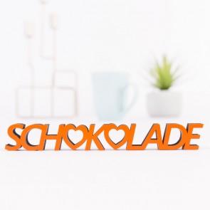 3D Schriftzug Schokolade