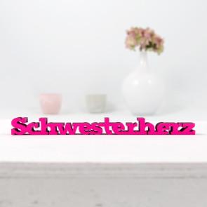 3D-Schriftzug Schwesterherz