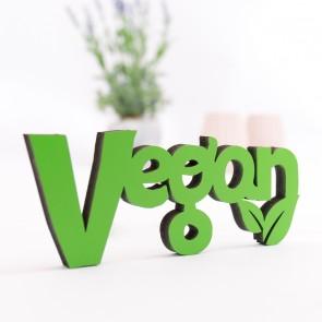 Dekoschriftzug Vegan