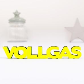 3D-Schriftzug Vollgas