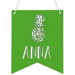 Wimpel Wunschname Ananas