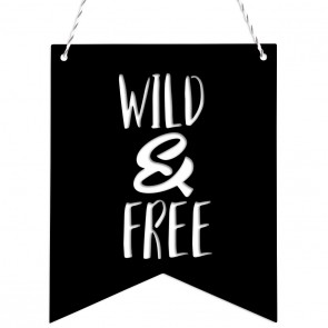 Wimpel Wimpel Wild and free