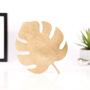 Breites Palmen Blatt aus Holz
