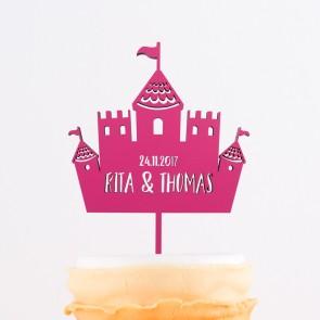 Cake Topper Märchenschloss mit Euren Namen