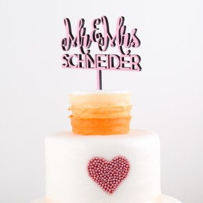 Cake Topper Mr. & Mrs. Wunschname