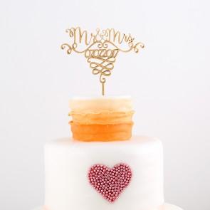Cake Topper Mr. & Mrs. mit Eurem Datum